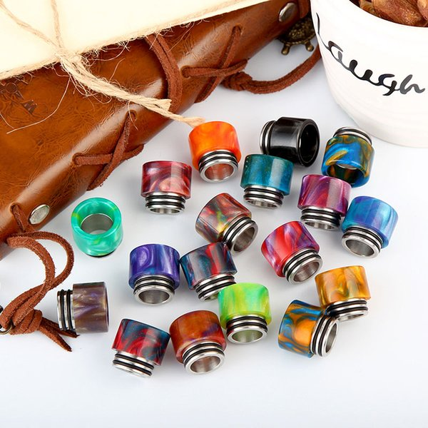 tfv8 drip tips for e cigs Epoxy Resin drip tip mixed color wide bore drip tip ship by random