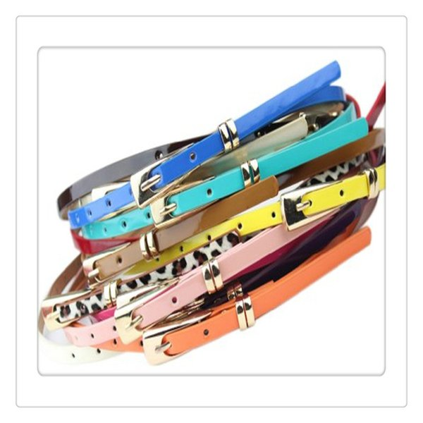 Hot Women Belts Slender Candy Buckle Waistband Thin Skinny Belts Dress For Women Dresses Belt Accessories Multicolor Free Shipping