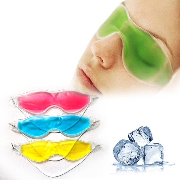 Wholesale- Women Essential Beauty Ice Goggles Remove Dark Circles Relieve Eye Fatigue eyemask Gel Eye Masks collagen eye mask patch Z3