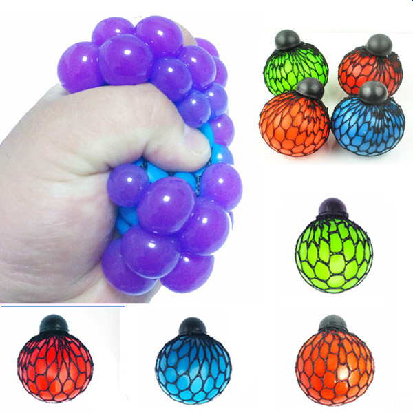 6CM Cute Anti Stress Face Reliever Grape Ball Autism Mood Squeeze Relief Healthy Toy Funny Geek Gadget Vent Decompression toys B001