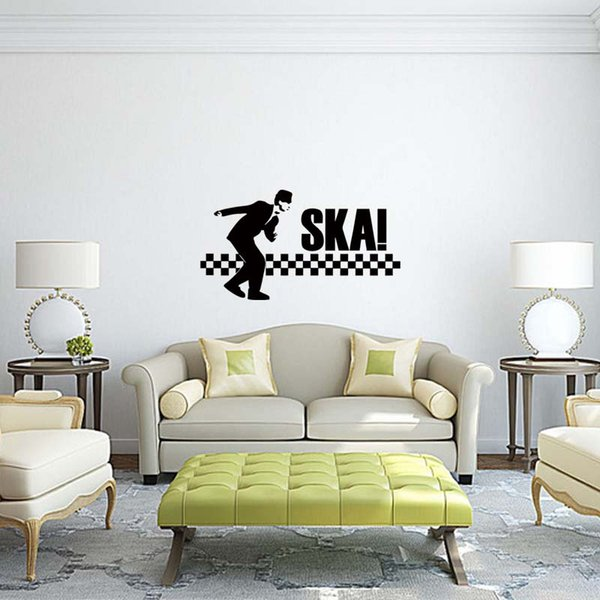 Hot Sale For A Man Bent Down To Dance Ska Bedroom Removable Wall Art Sticker Transfer Decal Sitting Room Diy