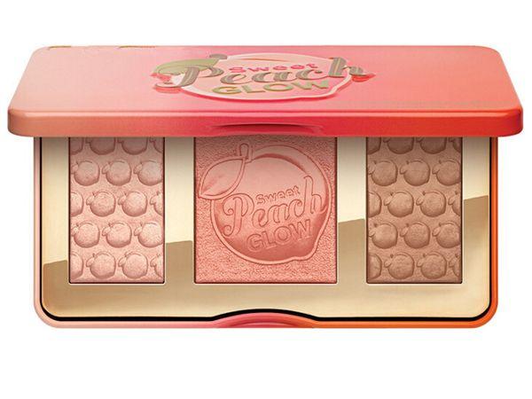 Paleta de maquillaje Sweet Peach GLOW 3 Color Blush Powder Blusher Marcas Eyeshadow Face Make Up Kits de cosméticos Olor a melocotón