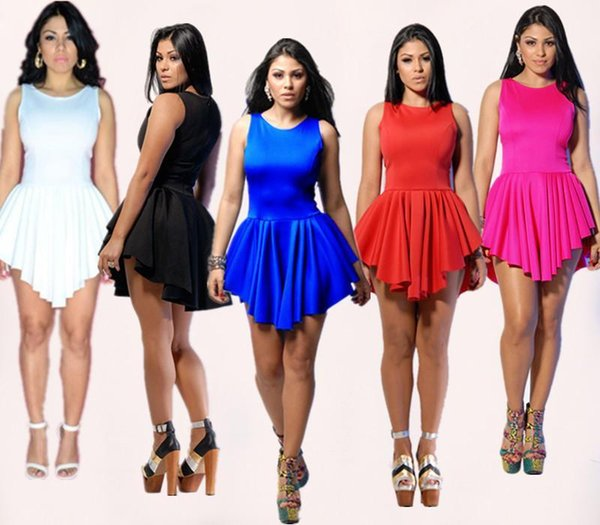 669442d77293 2017 Women s Plus Size Skater Dress Summer Irregular Hem Bandage Dress  Clothing Ladies Sexy Party Bodycon