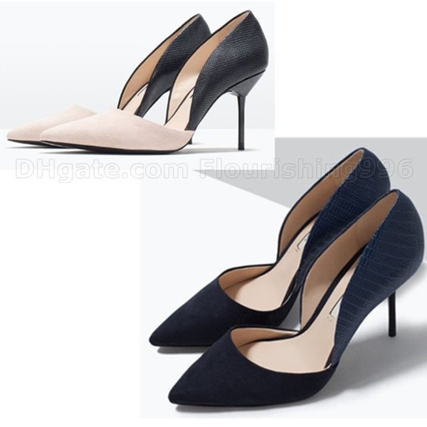 Lowest Price ! Fashion Women High Heel Shoes Pointed Toe High Heels Lady Single Shoe New Woman Wedding Dress Party Shoes