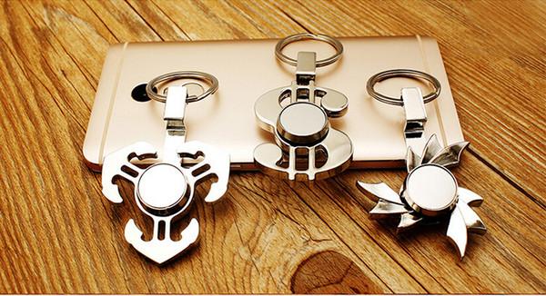 Date téléphone titulaire Fidget Spinner Doigt Vision Spinner Gyro Main Spinner Décompression Anxiété Jouets Pour Edc Alliage Avec L'étain