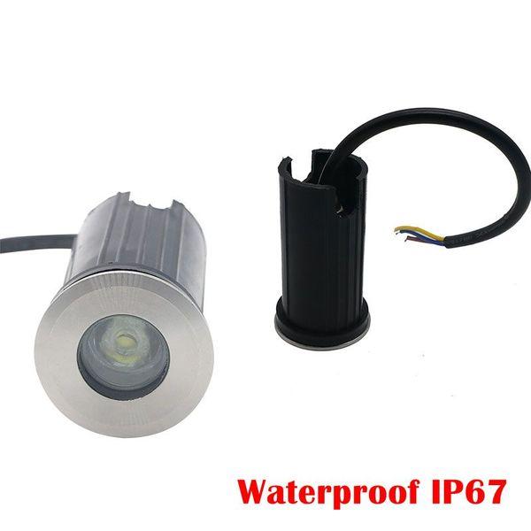 Small Size 41*73mm IP67 Waterproof 1W 3W AC 85-265V Epistar COB LED Outdoor Ground Garden Path Floor Underground Buried Yard Lamp Spot Land