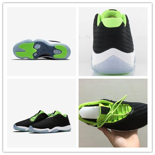 Big Discount new 11 Future Black White Green Mens Womens Basketball Shoes High Quality Low Cut Eur Size 36-46 Sneakers Free Shipping