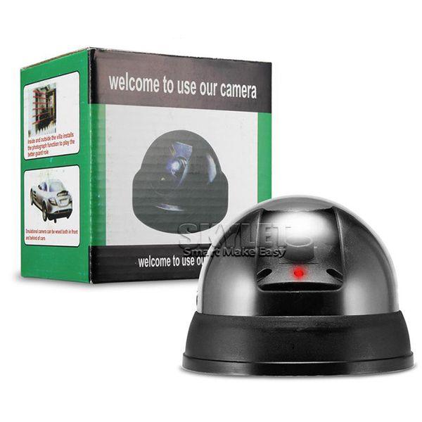 Câmera de segurança da fiscalização da abóbada do manequim com a câmera falsificada ao ar livre da luz do sensor do diodo emissor de luz para a segurança interna com pacote de varejo