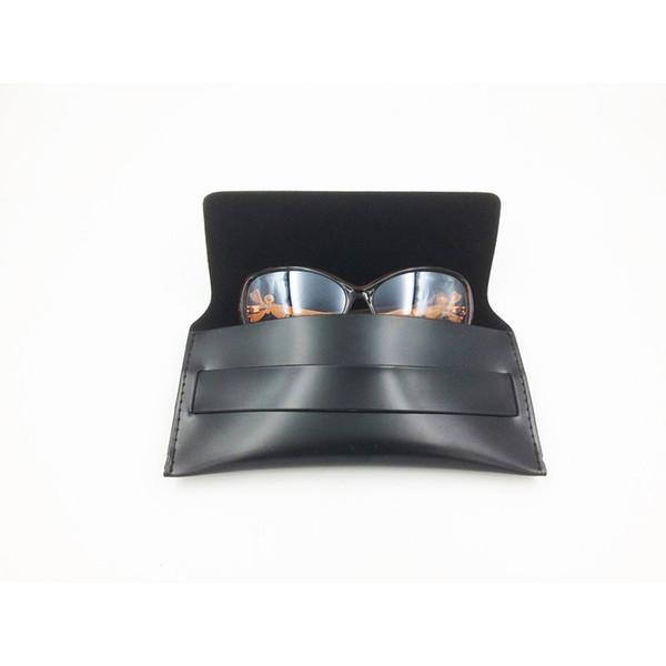 Schwarzes Weinlese-Sonnenbrille-Kasten-handgemachtes weiches Leder-Glas-Kasten-Eyewear-Zusatz-Brillen-Beutel 20pcs / Lot geben Verschiffen frei