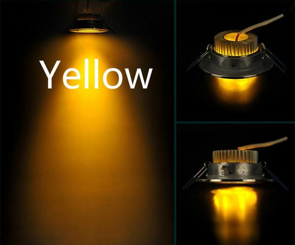 LED yellow light cattle eyes downlight living room background bar KTV3W hole spotlight ceiling light