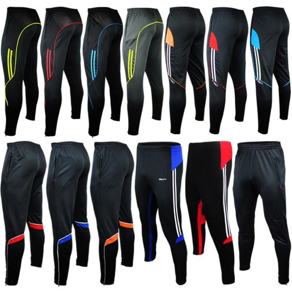 HOT men sport Athletic track skinny soccer pants legs Jogger Football Training 2015 gym mens Sweatpants Jogging Homme Trousers