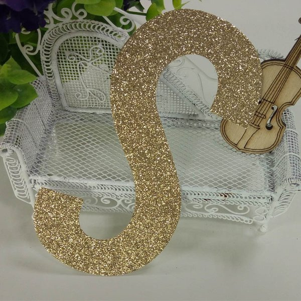 """Glitter paper """"S"""" Decor Birthday Party New Year,Christmas ,Cake,Crafts"""
