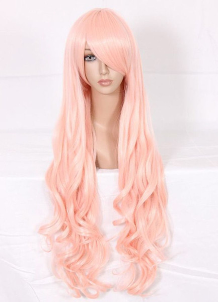 MCOSER The Super Dimension Fortress Macross Sheryl Princess Light Pink Long Wavy Synthetic Fashion Anime Women Cosplay Wig