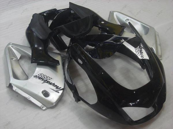 Ganzkörpersätze YZF 1000R 04 05 Karosserie Thunderace 96 97 Schwarz silbrige Verkleidungssätze für YAMAHA YZF1000R 98 99 1997 - 2007