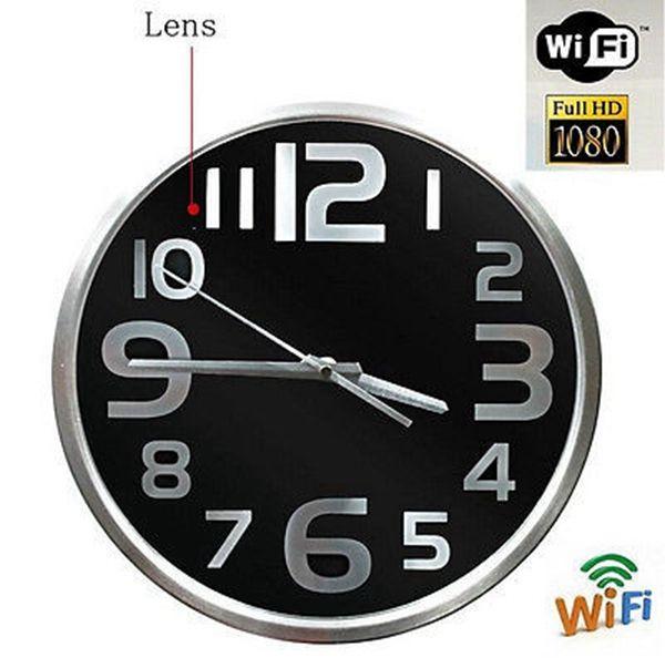 HD 1080 p Wifi Duvar Saati Kamera Kablosuz IP Kamera Duvar Asılı Saat Video kaydedici Hareket Algılama kameralar perakende kutusu ile