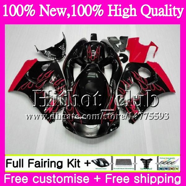 Body For SUZUKI SRAD Red flames GSXR 600 750 96 GSXR750 96 97 98 99 00 20HT17 GSX-R600 GSXR600 1996 1997 1998 1999 2000 Motorcycle Fairing