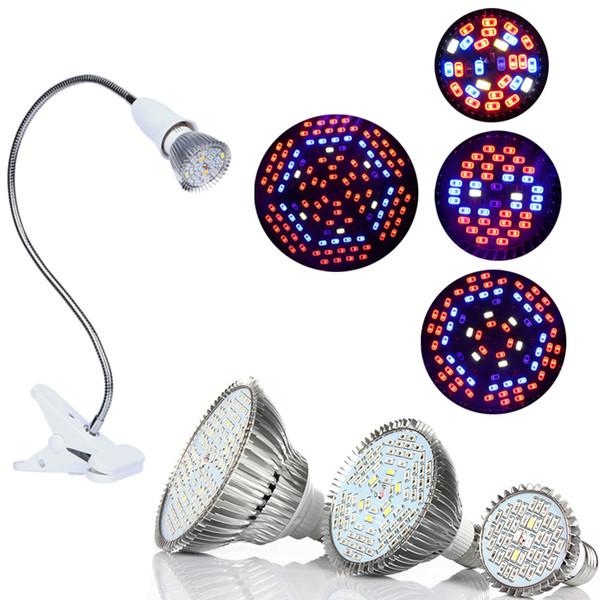 LED Grow Light mit 360 Grad Flexibler E27-Lampenhalter-Clip LED-Pflanzenwachstumslicht für Zimmer- oder Desktop-Anlagen und Hydroponikzelte