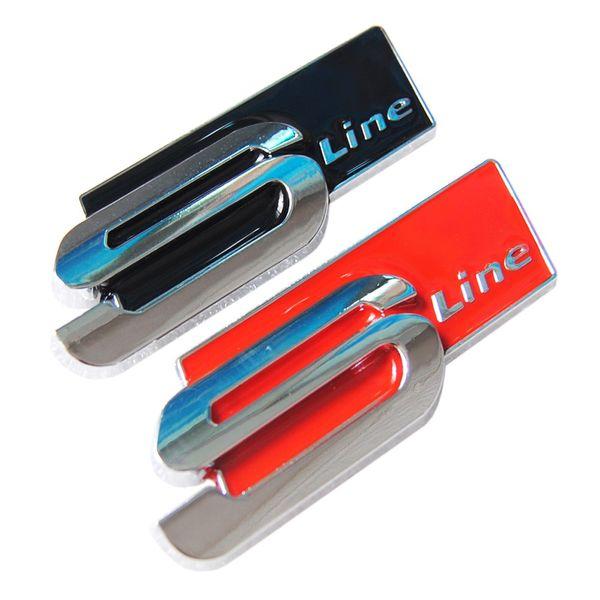 Car Styling Metal Alloy Sline S line 3D Car Side Fender Rear Trunk Badge Emblem Sticker for Audi S3 S4 S5 S6 S8 A1 A3 A4 A5 A6 A7 TT RS4