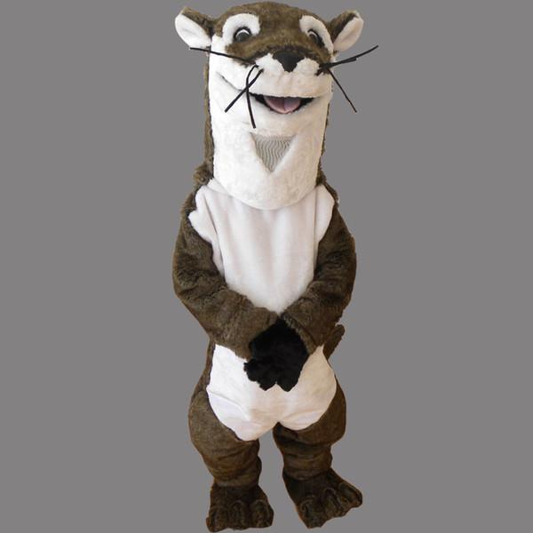 Cartoon Charakter Brown Hamster Erwachsene Größe Maskottchen Kostüm Fancy Geburtstag Party Kleid Halloween Karneval Kostüme Mit Hoher Qualität