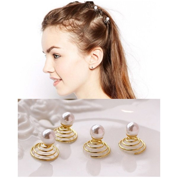 Act the role ofing is tasted Pearl spiral hairpin turn fine hair flower small deserve to act the role of lovely hair