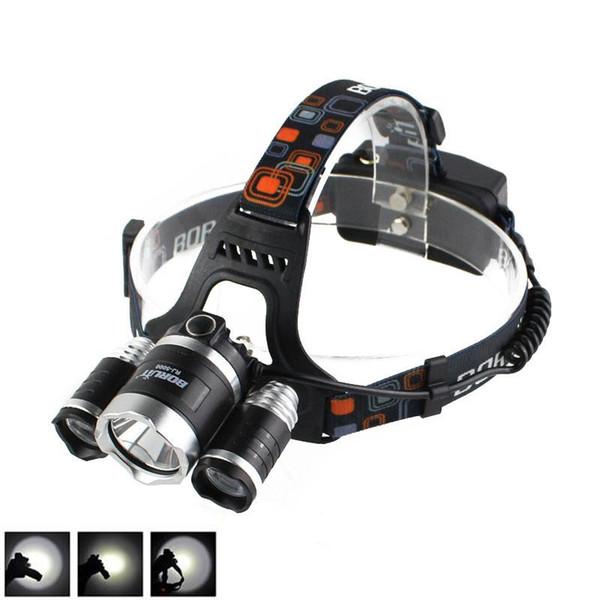 Boruit Outdoor 8000LM 3 x XM-L L2 LED Headlight Headlamp Hiking FISHING CAMPING Head Torch Flashlight USB Lamp Free Shipping