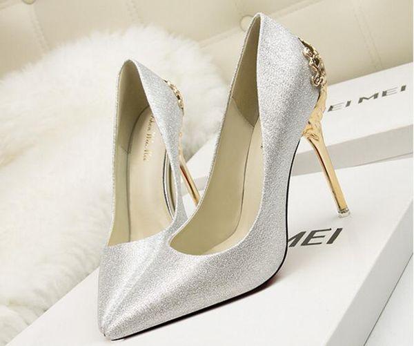 Size 34-39 Fuchsia Wedding Shoes lace rhinestone Bridal female High Heels flower pearl Shoes Women Pumps