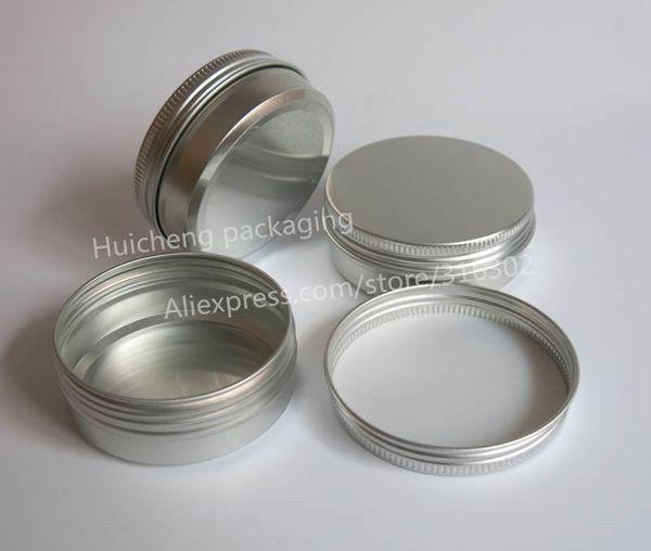 100 x 60g aluminum jar, metal jar for cream powder gel use, 2 oz cosmetic bottles, 60ml aluminum container