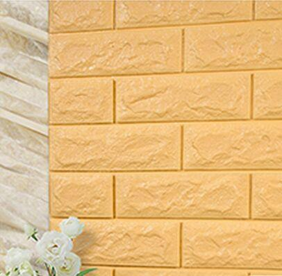 70x77cm Pe Foam Red 3d Wall Paper Safty Home Decor Wallpaper Diy ...