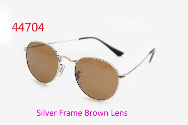 Silver Frame Lente Marrone