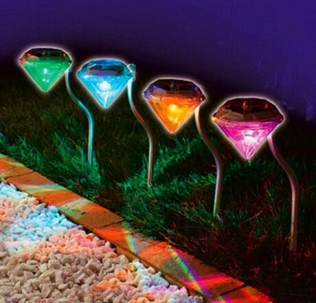 color changing solar garden lights. 1-LED Waterproof Outdoor LED Lighting Diamond 7 Color Changing Solar Garden Lights Pathway A