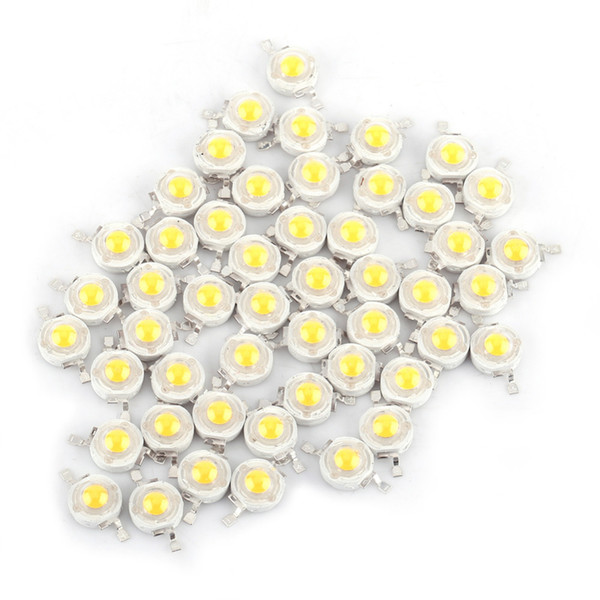 Wholesale- 50pcs/Lot SMD 1W Cool/Warm White LED Lamp Beads Bulb Chip For Floodlight Spotlight High Power New