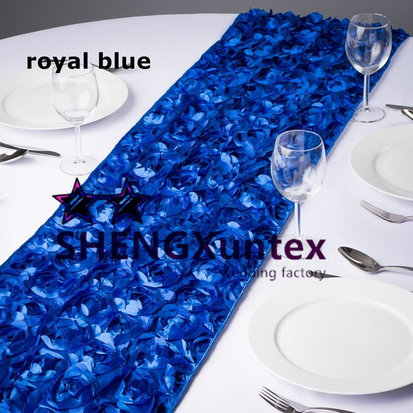 20pcs Sale Satin Rosette Table Runner For Table Cloth Used On Wedding