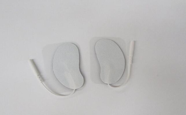 Reusable/crescent /Self Adhesive/ Long Life Electrode Pads EMS Tens units massager Machine with 2.0mm pin by dhl