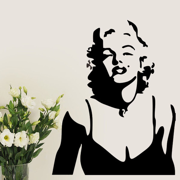 Marilyn Monroe Wall decal Removable stickers decor Vinyl Mural Decal Decoration Home Decor Mural DIY