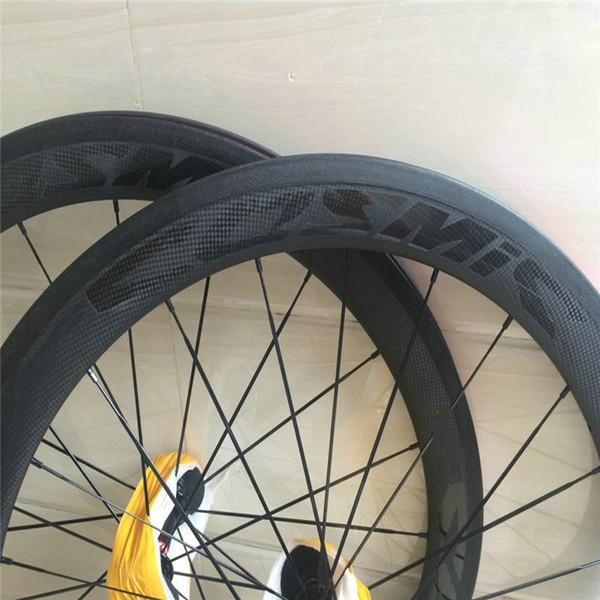 Made in China 50mm full carbon bicycle wheels carbon in bike R glue 23mm width V brake road bike wheels with powerway hubs free shipping