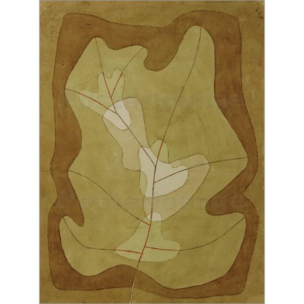 Abstract art by Paul Klee Exposed Leaf hand-painted Canvas paintings for wall decor