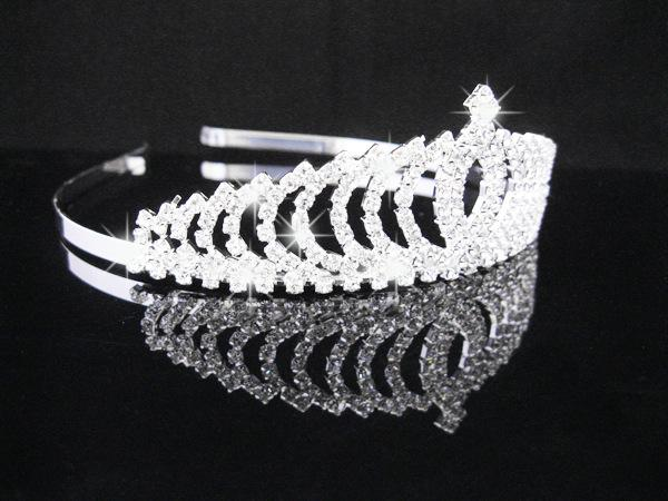 best selling 2017 Crystal Tiara Crows Bridal Hair Accessories Women Rhinestone Wedding Jewelry Headbands Hairbands Bridal Crowns Headpieces for party