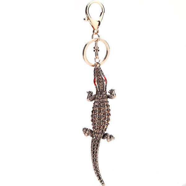 Llavero de cocodrilo de moda llavero - Llavero de cocodrilo de llavero de cocina - Bolso de mujer Llavero de cocodrilo de regalo