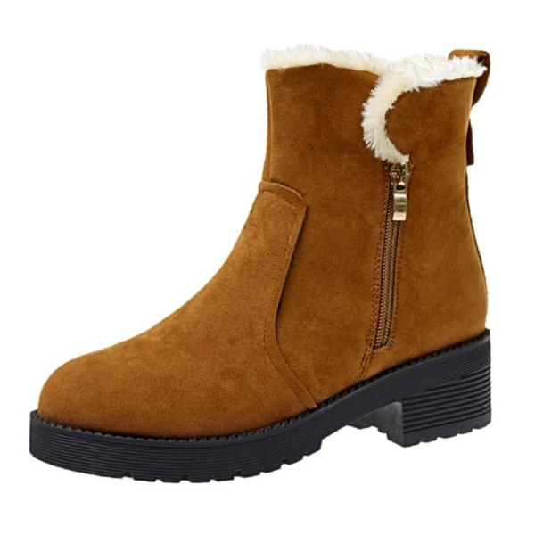 Donna Med Heel Snow Stivali Half Short Zipper Stivali Stivali Stivali Winter scarpe Mid   8cebe5
