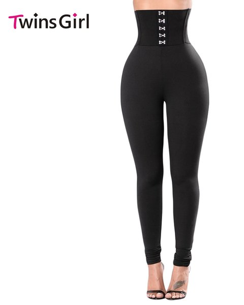 Wholesale- 2017 Summer New Fashion Sexy Thin Waist Legging For Women Corset Belt High Waist Leggings LC79929 calzas deportivas mujer
