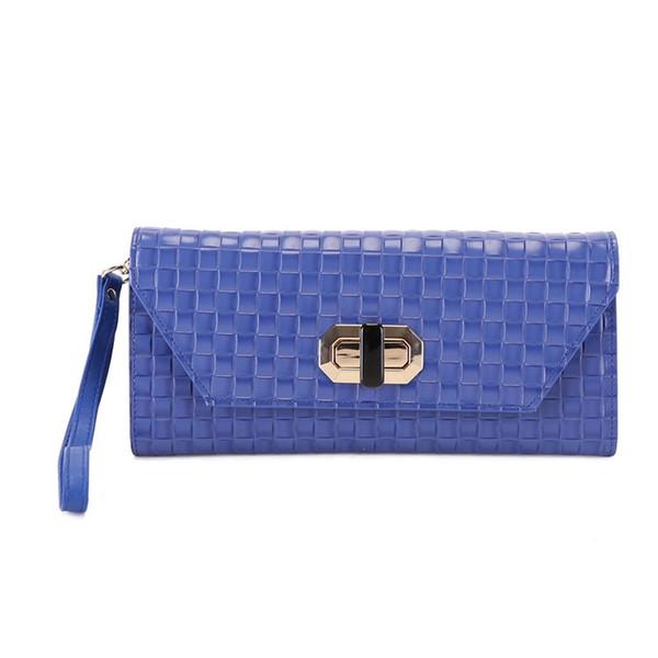 Rosa Schwarz Blau Umschlag Abend Handtasche Plaid Muster Leder Echte Frauen Messenger Bags Geldbörsen und Handtaschen Designer