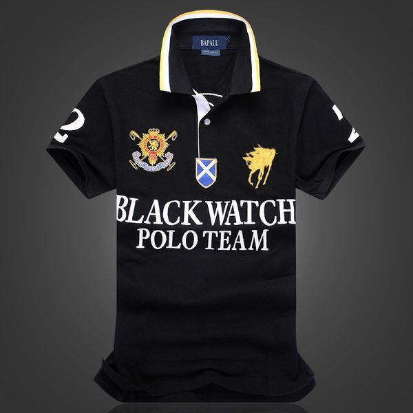 best selling designer polo shirts US SIZE 2019 new brand fashion luxury designer BLACK WATCH POLO TEAM oversized t shirt EU size Dropshipping