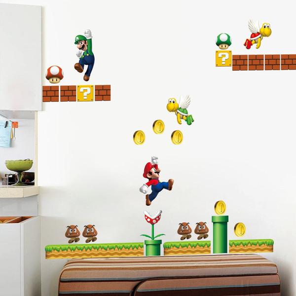 Anime Spiel Charakter Muster Wandaufkleber Junge Mdchen Kinder Schlafzimmer Wohnzimmer TV Sofa Hintergrund Dekoration Aufkleber