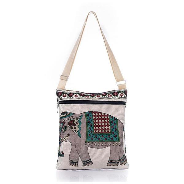 المرأة عبر الجسم حقيبة الفيل التطريز crossbody حقائب سيدة حقائب الكتف لطيف الترفيه الحيوان الطباعة المنسوجة حقائب اليد