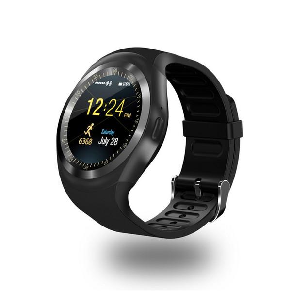 Y1 akıllı saatler SIM kart ile cep telefonları cep telefonları uzaktan kamera mesaj hatırlatma android telefonlar için micro SD whatsapp facebook