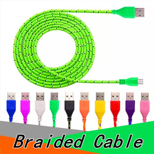 Braided Micro USB Cable Type C Cable 1M 2M 3M for Android High Speed Phone Charger Sync Data Cord for Samsung LG