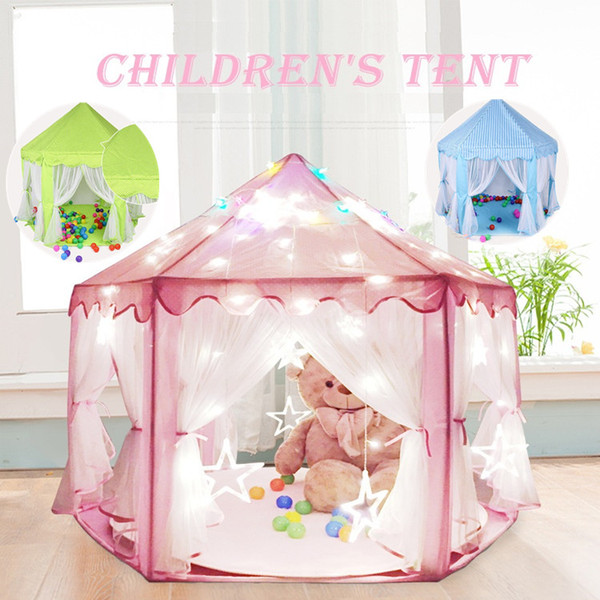 Wholesale-multi Colors Kids Portable Toy Tents Princess Castle Play Game Tent Activity Fairy House Fun Indoor Outdoor Playhouse A0673