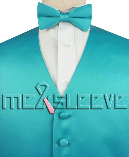 hot sale free shipping plain jade alternative dresses(vest+bowtie+handkerchief)