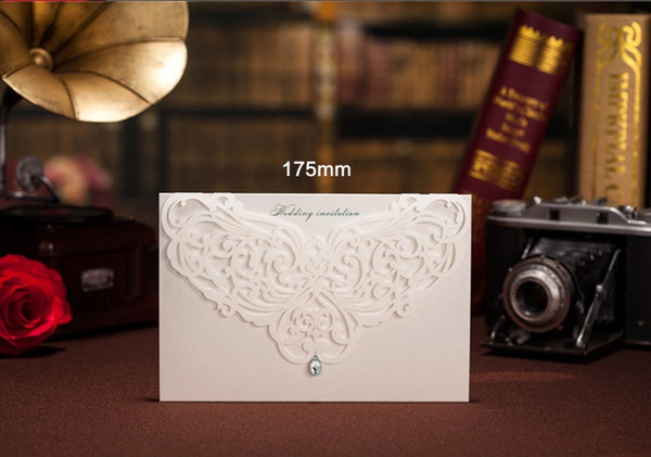 Wholesale Personalized Wedding Invitation Cards Red white wed cards Thank You cards modern designs card DHL free shipping on hot sale