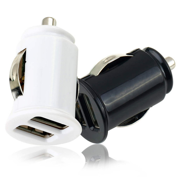 New Hot Selling 2 Port USB Mini Bullet Car Charger Power Dual Adapter for cell phone MP3